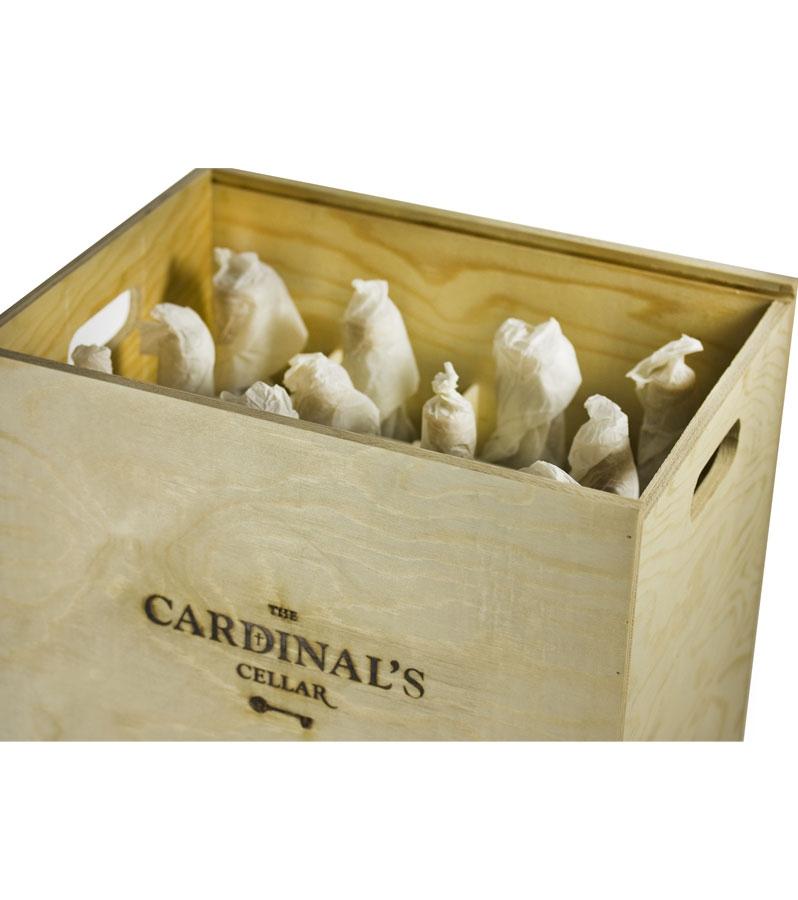 Wooden Wine Gift Box 12 Bottles