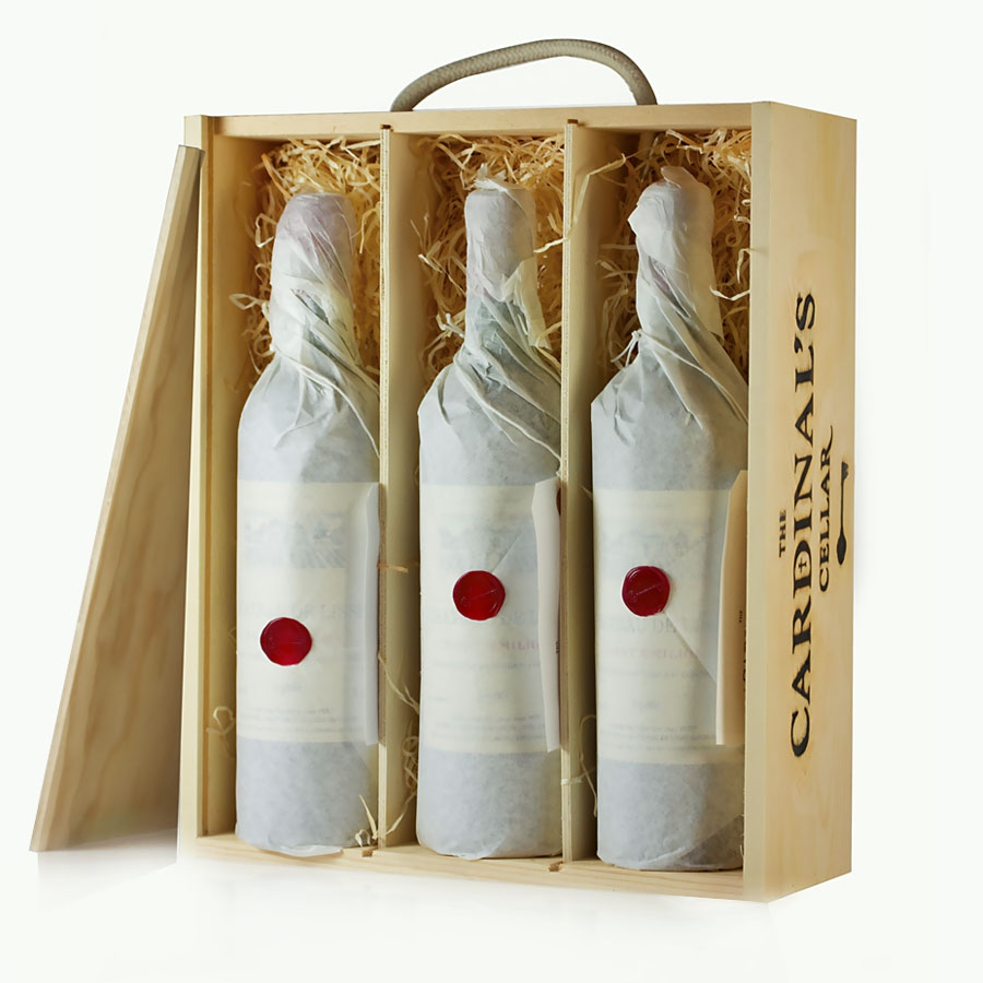 Wooden Wine Gift Box Triple