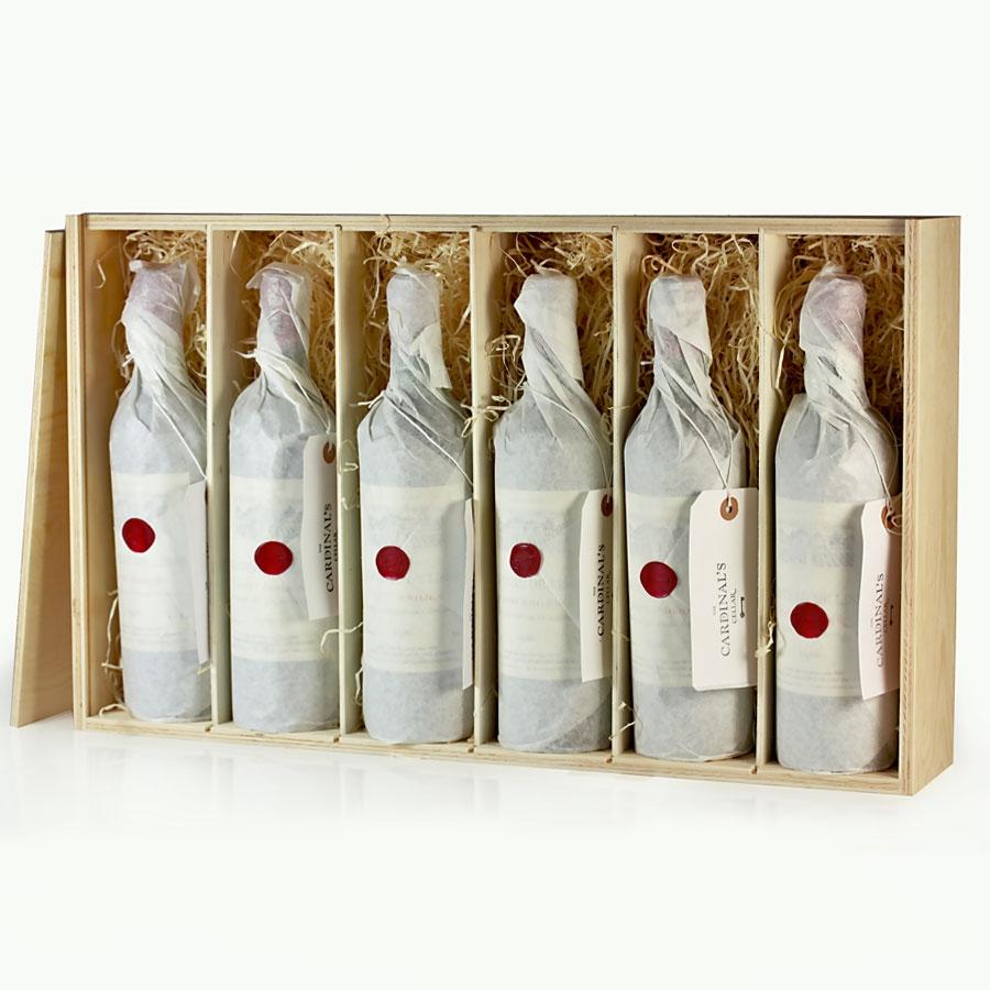 Wooden Wine Gift Box 6 Bottles