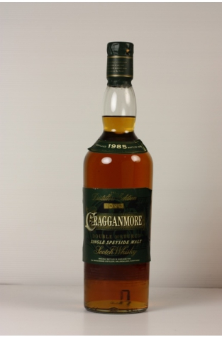 Cragganmore 15 Year Old 1985 Double Matured Single Malt Whisky
