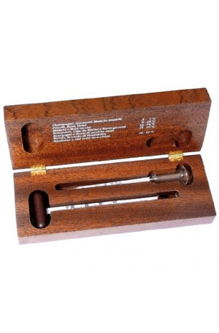 Thermometer & Alcoholmeter, Wooden Case