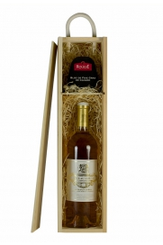 Single Wooden Wine Gift Box + Rougie Bloc Of Duck Foie Gras 75g