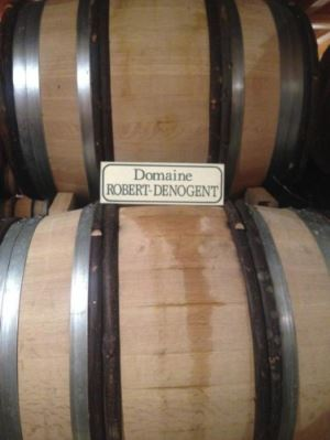 barriques in the cave, domaine robert-denogent