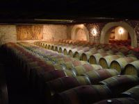 in the cellar at ch. tour haut caussan