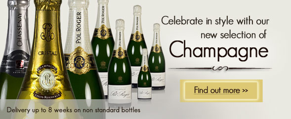 New selection of champagne