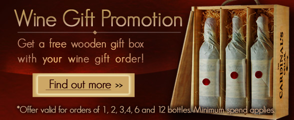Free Wooden Gift Box with your Wine Gift order